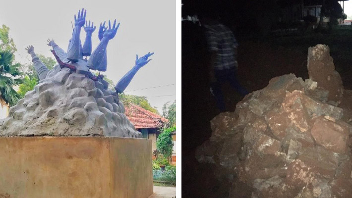 jaffna monument before after